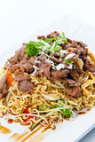 Stewed  meat with noodles.  Korean cuisine. Royalty Free Stock Images