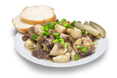Stewed meat with potato Stock Photography