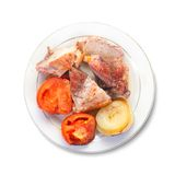 Stewed meat with tomatoes Stock Photos