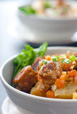 Stewed meat with vegetables Royalty Free Stock Photos