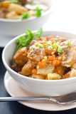 Stewed meat with vegetables Stock Photography