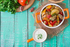 Free Stewed Meat With Vegetables Royalty Free Stock Images - 60367169