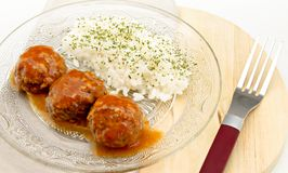 Stewed meatballs Royalty Free Stock Photography