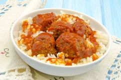 Stewed meatballs Royalty Free Stock Images
