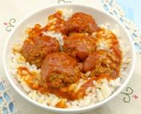 Stewed meatballs Stock Image