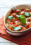 Stewed meatballs Stock Image