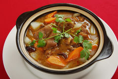 Stewed mutton pot Royalty Free Stock Images