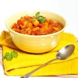 Stewed oberżyna z pomidorem Obraz Stock