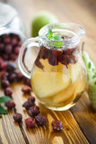 Stewed pears and rosehip Stock Images