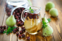 Stewed pears and rosehip Stock Image