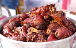 Stewed Pigs Trotters Royalty Free Stock Images