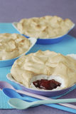Stewed plum meringue pie Royalty Free Stock Images