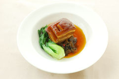 Stewed pork(belly meat) with brown sauce. Chinese cuisine. yumcha, chinese food Stock Image