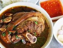 Stewed pork knuckle Stock Photo