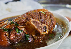 Stewed pork knuckle. The most sumptuous in Thailand Stock Photography