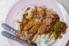 Stewed pork knuckles with rice Stock Images