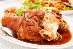 Stewed pork leg. Royalty Free Stock Photo
