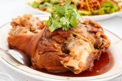Stewed pork leg. Stock Image