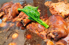 Stewed pork leg Royalty Free Stock Photography