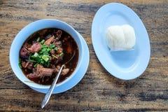 Stewed pork leg, delicious food, Thai Food Royalty Free Stock Photo