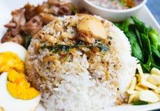 Stewed pork leg on rice Royalty Free Stock Photo