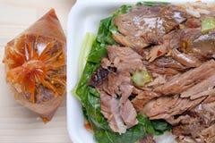 Stewed Pork Leg with Rice Royalty Free Stock Photos
