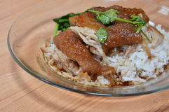 Stewed pork leg with rice Royalty Free Stock Images