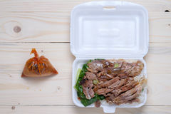 Stewed Pork Leg with Rice Royalty Free Stock Photography