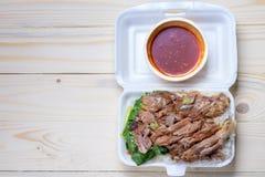 Stewed Pork Leg with Rice Royalty Free Stock Image