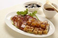 Stewed pork leg on rice Royalty Free Stock Image
