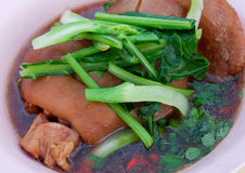 Stewed pork leg. Soup Asian style food Royalty Free Stock Photo