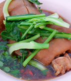 Stewed pork leg. Soup Asian style food Royalty Free Stock Images