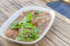 Stewed pork leg Stock Images