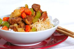 Stewed pork over rice Royalty Free Stock Photo