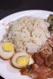 Stewed Pork på med Rice Fotografering för Bildbyråer