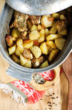 Stewed potato with meat Royalty Free Stock Image