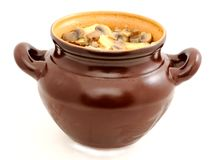 Stewed potatoes and fungi Stock Images