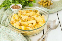 Potato stewed with olives Royalty Free Stock Photography