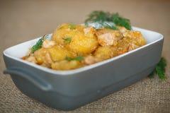 Stewed potatoes Stock Image
