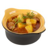Stewed potatoes in a pot Stock Photo