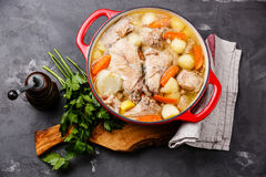 Stewed rabbit with potatoes and carrot Stock Images