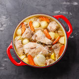 Stewed rabbit with potatoes and carrot Royalty Free Stock Photography