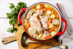 Stewed rabbit with potatoes and carrot Royalty Free Stock Photos