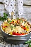 Stewed rabbit. Stewed rabbit,traditional maltese cuisine Stock Images