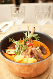 Stewed rack of lamb with vegetables Royalty Free Stock Photo