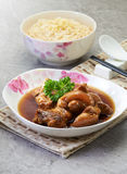Stewed Trotters with Noodles Royalty Free Stock Photography