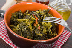 Stewed turnip greens. Stock Photos