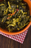 Stewed turnip greens. Royalty Free Stock Photo