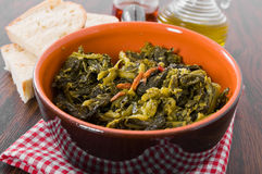 Stewed turnip greens. Stock Images