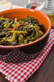 Stewed turnip greens. Royalty Free Stock Photos